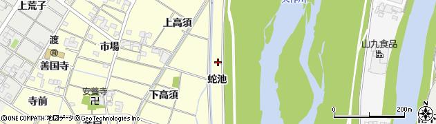 愛知県岡崎市渡町(蛇池)周辺の地図