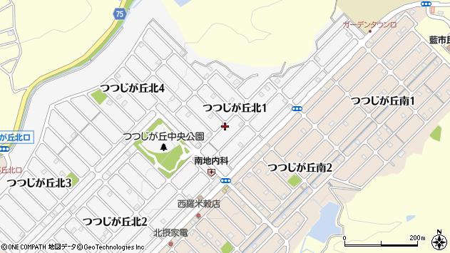 〒669-1348 兵庫県三田市つつじが丘北の地図