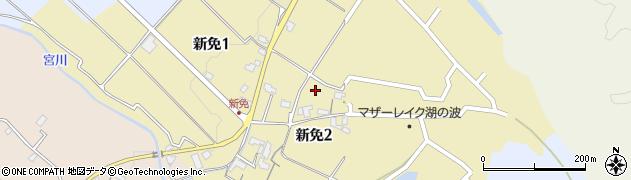滋賀県大津市新免周辺の地図