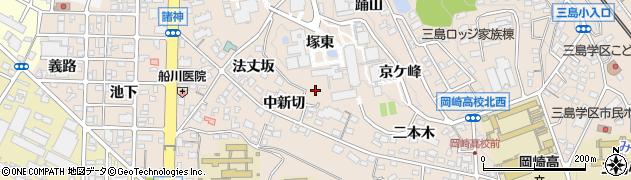 愛知県岡崎市明大寺町(塚東)周辺の地図