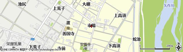 愛知県岡崎市渡町(市場)周辺の地図