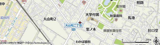 愛知県安城市安城町(大山)周辺の地図