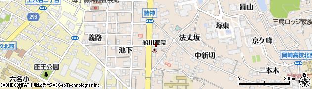 愛知県岡崎市明大寺町(長泉)周辺の地図