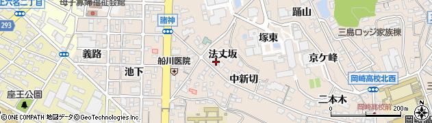 愛知県岡崎市明大寺町(法丈坂)周辺の地図