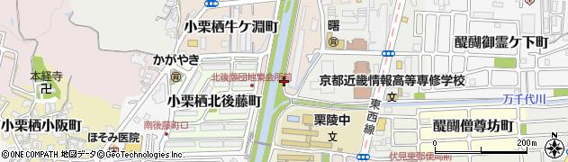 京都府京都市伏見区小栗栖森ケ淵町周辺の地図