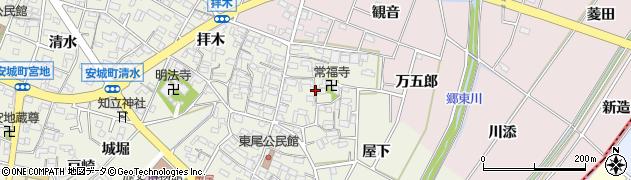 愛知県安城市安城町(常福寺)周辺の地図