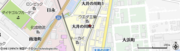 三重県四日市市大井の川町周辺の地図