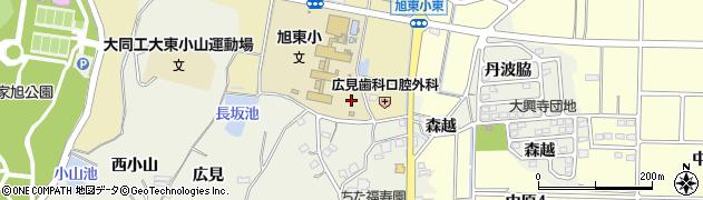 愛知県知多市大興寺(広目)周辺の地図