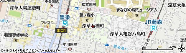 京都府京都市伏見区深草石橋町周辺の地図