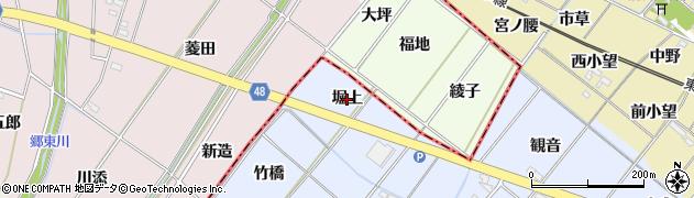 愛知県岡崎市昭和町(堀上)周辺の地図
