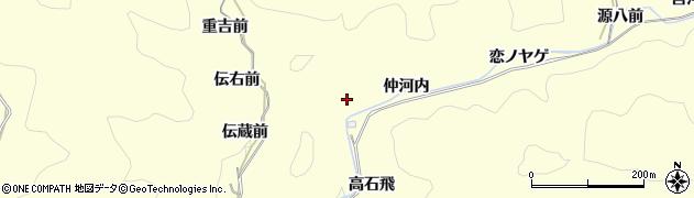 愛知県岡崎市蓬生町(仲河内)周辺の地図