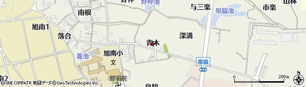 愛知県知多市金沢(青木)周辺の地図