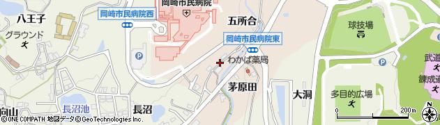 愛知県岡崎市高隆寺町(五所合)周辺の地図