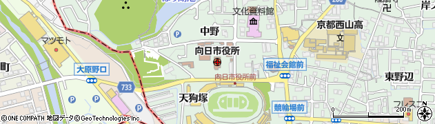 京都府向日市周辺の地図