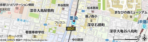 京都府京都市伏見区周辺の地図