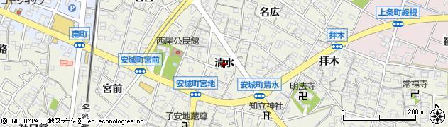 愛知県安城市安城町(清水)周辺の地図