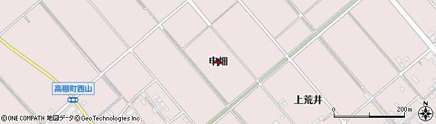 愛知県安城市高棚町(申畑)周辺の地図