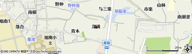 愛知県知多市金沢(深溝)周辺の地図