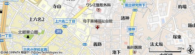 愛知県岡崎市明大寺町(義路)周辺の地図