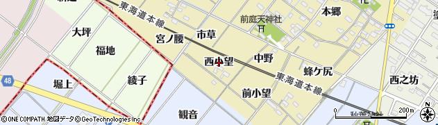 愛知県岡崎市新堀町(西小望)周辺の地図