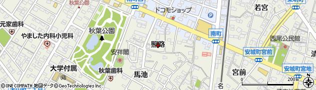 愛知県安城市安城町(照路)周辺の地図
