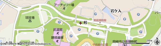 愛知県岡崎市高隆寺町(峠)周辺の地図