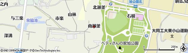 愛知県知多市金沢(南瀬釜)周辺の地図