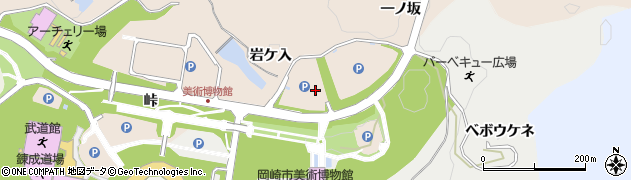 愛知県岡崎市高隆寺町(岩ケ入)周辺の地図