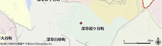 京都府京都市伏見区深草鐙ケ谷町周辺の地図