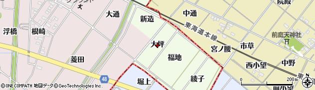 愛知県安城市山崎町(大坪)周辺の地図