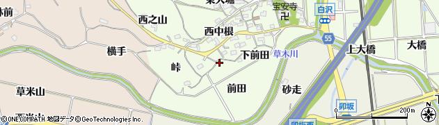 愛知県知多郡阿久比町白沢上前田周辺の地図