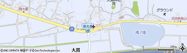 東大貫周辺の地図
