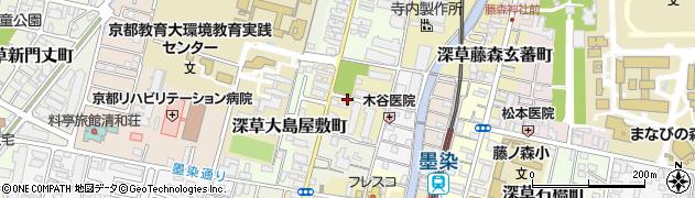 京都府京都市伏見区深草北鍵屋町周辺の地図