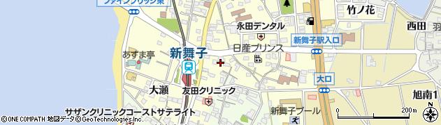 愛知県知多市新舞子(明知山)周辺の地図