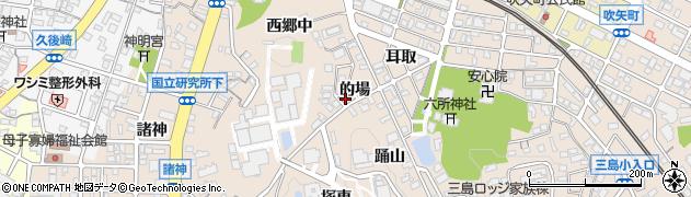 愛知県岡崎市明大寺町(的場)周辺の地図