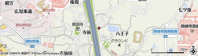 愛知県岡崎市洞町(寺前)周辺の地図