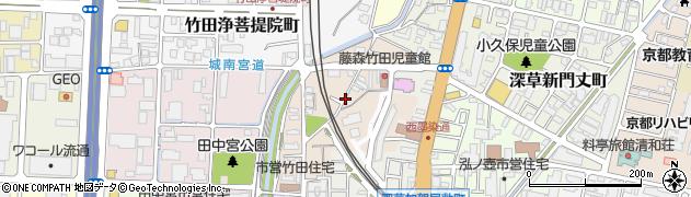 京都府京都市伏見区竹田醍醐田町周辺の地図