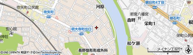 愛知県岡崎市明大寺町(中道)周辺の地図