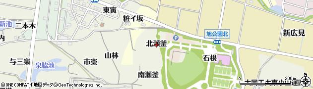 愛知県知多市金沢(北瀬釜)周辺の地図