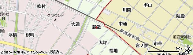 愛知県安城市山崎町(新造)周辺の地図
