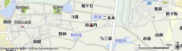 愛知県知多市金沢(松之内)周辺の地図