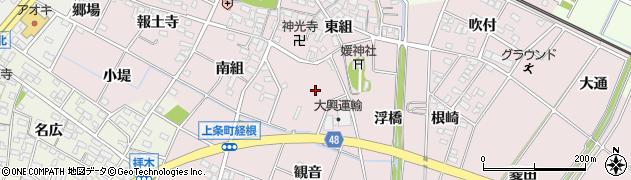 愛知県安城市上条町(堂前)周辺の地図