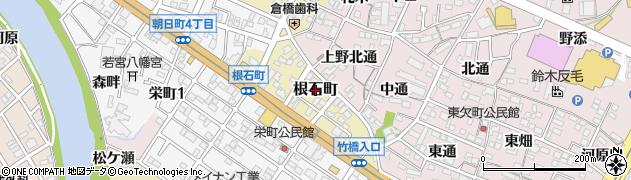 愛知県岡崎市根石町周辺の地図