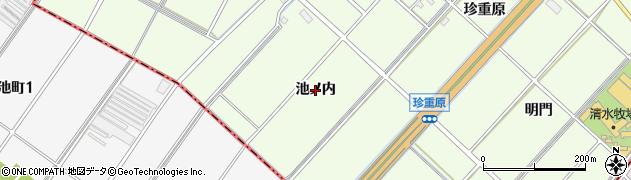 愛知県刈谷市小垣江町(池ノ内)周辺の地図