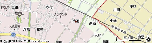 愛知県安城市上条町(大通)周辺の地図