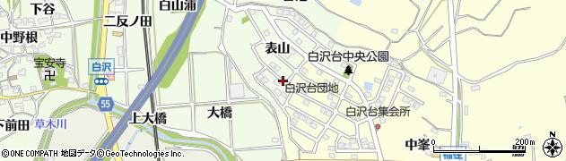 白沢台団地周辺の地図