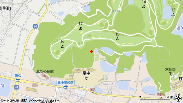〒675-2432 兵庫県加西市満久町の地図