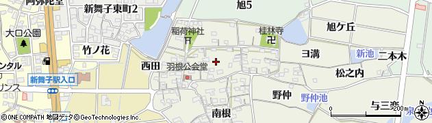 愛知県知多市金沢(北根)周辺の地図
