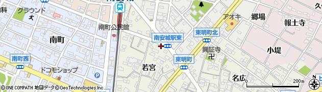 愛知県安城市安城町(極楽坊)周辺の地図
