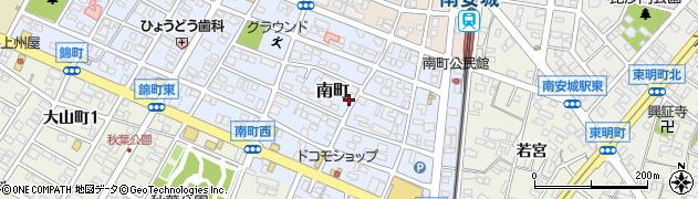愛知県安城市南町周辺の地図